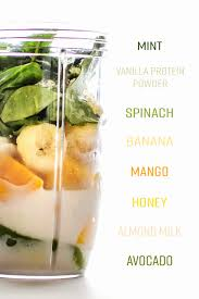 creamy avocado mint green smoothie recipe project meal plan