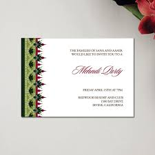 henna invitation henna party mehndi wedding invitations regal border by soulful