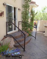 Exterior Stair Railing by Exterior Wrought Iron Stair Railings Personalized Shapes Houz Buzz