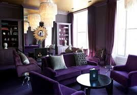monochromatic living rooms purple monochromatic color scheme in this royal purple living room