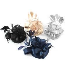 aliexpress com buy fashion feather satin fascinator hat hair