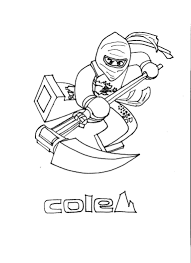 free coloring pages of cole dx ninjago lego ninjago coloring pages