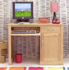 Home Office Computer Desk by Conran Solid Oak Modern Furniture Small Single Pedestal Office Pc