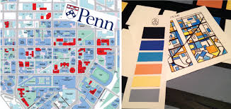 Upenn Campus Map Mondrian Penn Abstract Campus Upenn Jeffrey J Mattia Studio