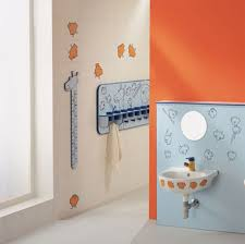 bathroom amazing bathroom paint ideas with orange wall color