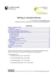 literature review report writing how to write a concluding