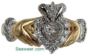 claddagh engagement ring claddagh diamond engagement ring