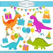 dinosaur birthday on sale dinosaur clip birthday clipart digital clip