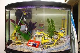 lego construction site aquarium lego fish tanks n aquariums