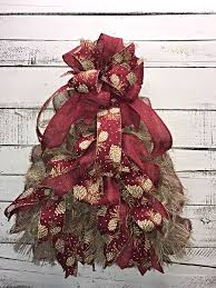 rustic christmas rustic christmas tree for front door burlap