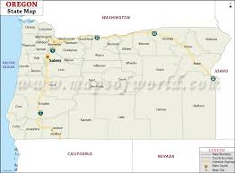 map of oregon map of oregon state map of usa