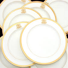 antique 1911 minton 10pc dinner plate set ornate gold borders