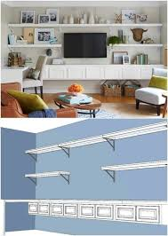 Living Room Wall Shelving by Best 25 Wall Mounted Tv Ideas On Pinterest Mounted Tv Decor