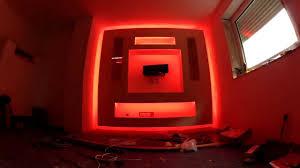 Led Beleuchtung Wohnzimmerschrank Tv Schrank Aus Trockenbau Mit Led Beleuchtung Youtube