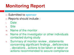 clinical trial report template monitoring and auditing in clinical trials