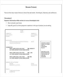Chronological Order Resume Template 6 Basic Resume Format Template 6 Free Word Pdf Format