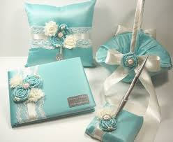 wedding guest book pen personalized wedding guest book robin s egg blue wedding