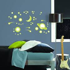 mystyle ms0105 outer space glow in the dark peel and stick wall mystyle ms0105 outer space glow in the dark peel and stick wall art decorative wall appliques amazon com