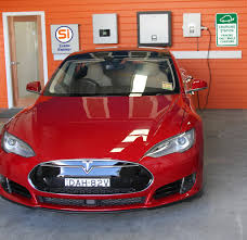 tesla model s charging electric vehicle charge station si clean energy solar