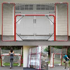 amazon com ezgoal hockey folding pro goal with backstop and