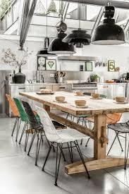 best images about inspiratie loods robuuste tafels boerderijtafel met moderne stoelen