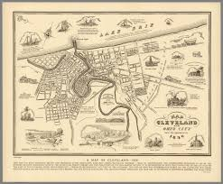 Map Of Southwest Ohio A Map Of Cleveland 1836 David Rumsey Historical Map Collection