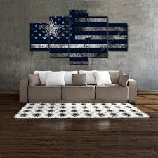 Home Interior Cowboy Pictures Dallas Cowboy American Flag Home Decor Wall Art Football Canvas