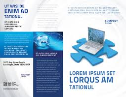 laptop data brochure template design and layout download now
