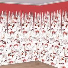 20ft x halloween chop shop bloody wall scene setter wall banner
