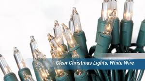 clear christmas lights white wire youtube