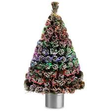 national tree company 4 ft fiber optic evergreen flocked