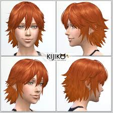 sims 4 hair cc spiky layered for female kijiko
