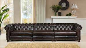 Chesterfield Sofa Dimensions by Amax Bakersfield Leather Chesterfield Sofa Wayfair