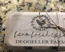 egg carton labels stamp chicken decor custom egg cartons