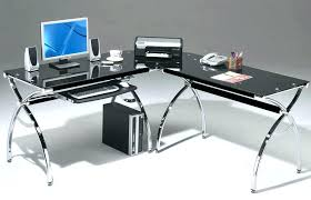 Glass Desk Office Depot L Shaped Computer Desk Office Depot Optiona Back L Shaped Glass