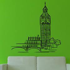 Home Decor Shops London Online Shop London Landmark Building Cartoon Big Ben Wall Sticker