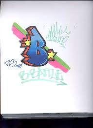 graffiti letter b bubble design new style graffiti