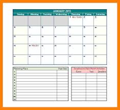3 marketing calendar template service letters