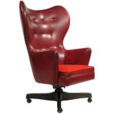 Leather Club Chairs For Sale Leather Wingback Rolling Chair By Schafer Bros Rolling Chair