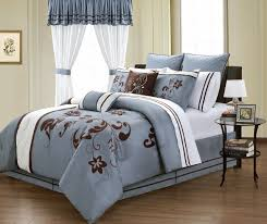 King Linen Comforter 24 Piece Viola Blue Comforter W Sheets Curtain Bedromm Ensemble Set