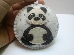 dusi ustvarja christmas ornaments santa clause and panda bear