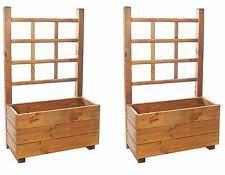 basique lierre wooden trellis planter 65 litres ebay
