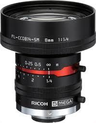 8 mm c mount lens pentax c814 5m kp ricoh fl cc0814 5m 1 4