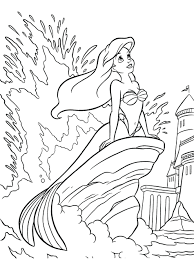 mermaid coloring pages free detailed adults download