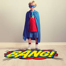 bang comic book sound cut out floor decal floor stickers