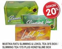 Lokol Tea mustika ratu lokol tea isi 30 teh anti kolesterol daftar harga