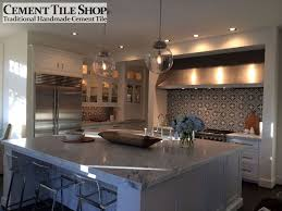 tiled kitchen backsplash backsplash cement tile shop