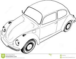 hippie volkswagen drawing volkswagon beetle or bug royalty free stock photo image 10540615