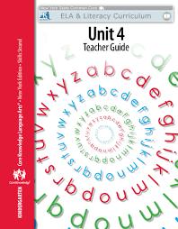 kindergarten skills unit 4 teacher guide engageny