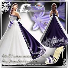 purple wedding dresses second marketplace g t wedding gown purple